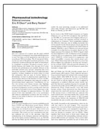 Pharmaceutical Biotechnology by Olson, Eric R.