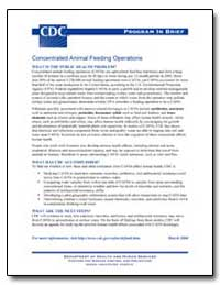 Concentrated Animal Feeding Operations by Department of Health and Human Services
