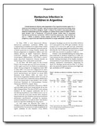 Hantavirus Infection in Children in Arge... by Pini, Noemi C.
