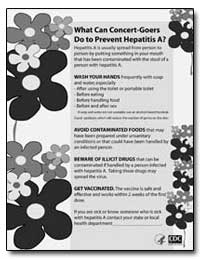 What Can Concert-Goers Do to Prevent Hep... by Department of Health and Human Services
