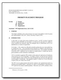 Priority Placement Program by Department of Health and Human Services