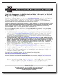 The U.S. Response to Sars : Role of Cdc'... by Department of Health and Human Services