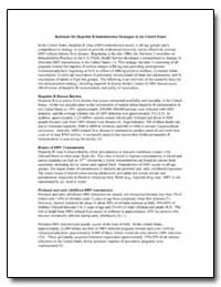Rationale for Hepatitis B Immunization S... by Department of Health and Human Services