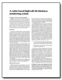 A Radar-Based Highwall Rib-Thickness Mon... by Mowrey, Gary L.