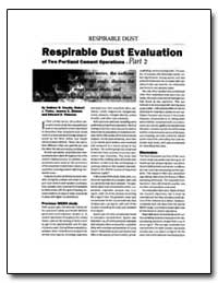 Respirable Dust Evaluation by Cecala, Andrew B.