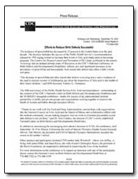 Press Release Efforts to Reduce Birth De... by Department of Health and Human Services