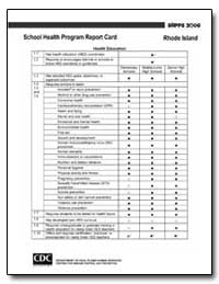 Rhode Island School Health Program Repor... by Department of Health and Human Services