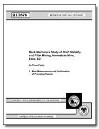 Rock Mechanics Study of Shaft Stability ... by Pariseau, W. G.