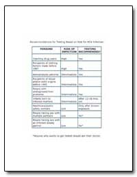 Recommendations for Testing Based on Ris... by Department of Health and Human Services
