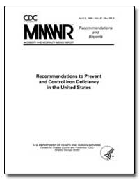 Recommendations to Prevent and Control I... by Department of Health and Human Services
