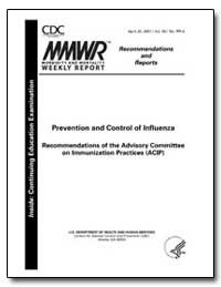 Prevention and Control of Influenza Reco... by Department of Health and Human Services