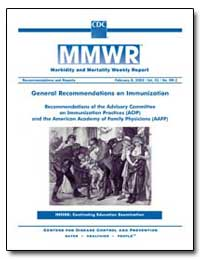 General Recommendations on Immunization ... by Department of Health and Human Services