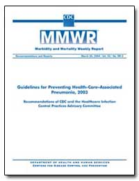 Guidelines for Preventing Health-Care–As... by Department of Health and Human Services
