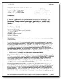 Clinical Application of Genetic Risk Ass... by Scheuner, Maren T.