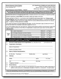 Special Exposure Cohort Petition U.S. De... by Department of Health and Human Services