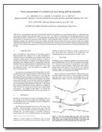 Stress Measurement of a Jointed Rock Mas... by Johnson, Jennifer J.