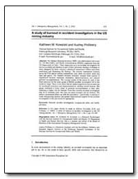 A Study of Burnout in Accident Investiga... by Kowalski, Kathleen M., Ph. D.