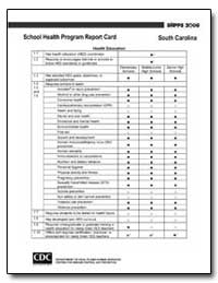 School Health Program Report Card by Department of Health and Human Services