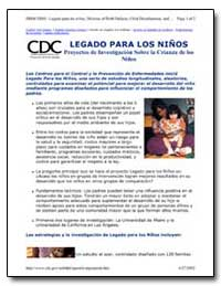 Legado para Los Ninos Proyectos de Inves... by Department of Health and Human Services