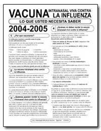 Vacuna Intranasal Viva Contra la Influen... by Department of Health and Human Services