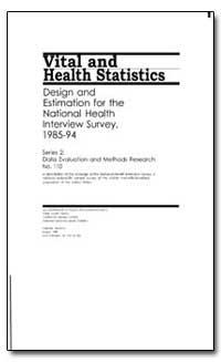 Vital and Health Statistics by Israel, Robert A.