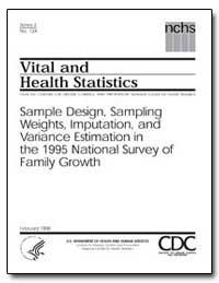 Vital and Health Statistics by Curtin, Lester R., Ph. D.