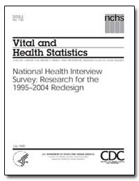 Vital and Health Statistics by Sondik, Edward J., Ph. D.