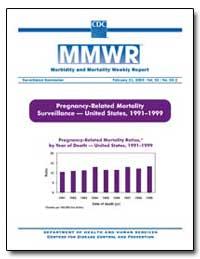 Pregnancy-Related Mortality Surveillance... by Gerberding, Julie Louise, M. D., M. P. H.