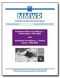 Cryptosporidiosis Surveillance — United ... by Gerberding, Julie Louise, M. D., M. P. H.