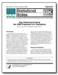 Age Adjustment Using the 2000 Projected ... by Department of Health and Human Services