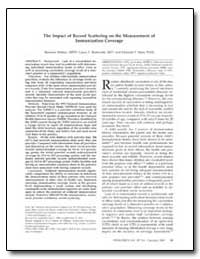 The Impact of Record Scattering on the M... by Rodewald, Lance E.