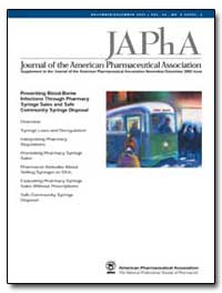 Journal of the American Pharmaceutical A... by Jones, T. Stephen