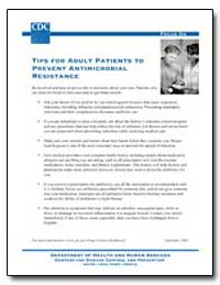 Tips for Adult Patients to Prevent Antim... by Department of Health and Human Services