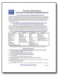 Traumatic Incident Stress : Information ... by Department of Health and Human Services