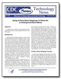 Using In-Place Stone Stoppings to Direct... by Department of Health and Human Services