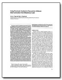 Using Proximate Analysis to Characterize... by Department of Health and Human Services