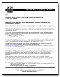 Updated Information Regarding Mosquito R... by Department of Health and Human Services