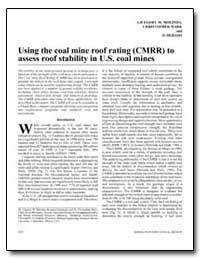 Using the Coal Mine Roof Rating (Cmrr) t... by Department of Health and Human Services
