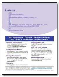 Dt : Diphtheria, Tetanus Toxoids—Pediatr... by Department of Health and Human Services