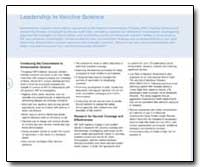 Leadership in Vaccine Science by Department of Health and Human Services