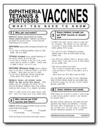 Vaccines - Diphtheria, Tetanus, And Pert... by Department of Health and Human Services