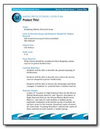 Marine Protected Areas Lesson Plan Prote... by