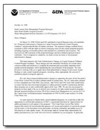 Noaa and Epa Federal Register Notice of ... by Wayland, Robert W.