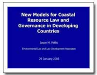 New Models for Coastal Resource Law and ... by Patlis, Jason M.