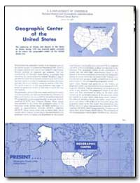 Geographic Center of the United Sattes by Adams, Oscar S. (Oscar Sherman)