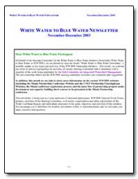 White Water to Blue Water Newsletter Nov... by Laughlin, Thomas