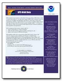 Gps Orbit Data by Kass, Bill
