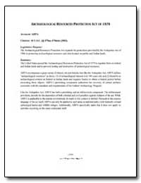 Archaeological Resources Protection Act ... by