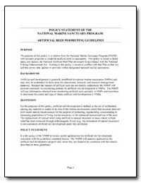 Policy Statement of the National Marine ... by