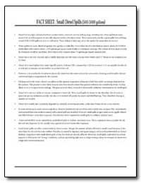 Fact Sheet : Small Diesel Spills (500-5,... by
